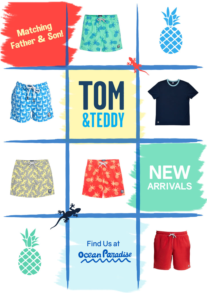 Father and Son Boardshorts - A New Tropical Collection