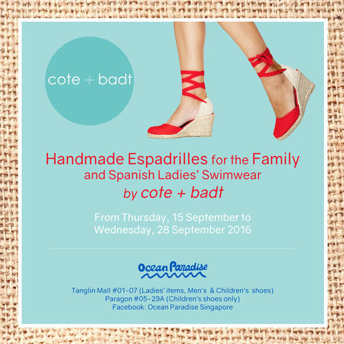 Handmade Espadrilles for the Family and Spanish Ladies Swimwear by cote + badt