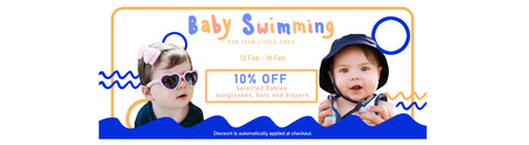 Baby Swimming: Sunglasses, Hats, Diapers
