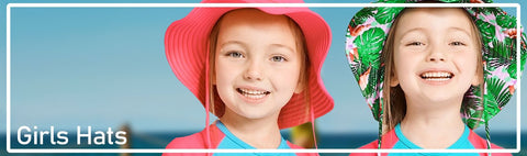 Stylish Sun Protective UPF 50+ girl hats including Sun Hats, Beach Hats, Legionnaire Hats, Bucket Hats, Caps and more.