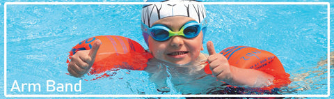 Inflatable Swimming Arm Bands or Swim Float Bands are good pool items to get little swimmers started in the water