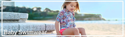 Stylish Baby Boys swimwear including thermal wear, rash sets, sunsuits and more.