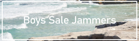 Jammers for boys swimming - competition, leisure and fitness - at special discount prices.