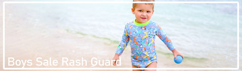 Rash Guards, Rash Tops and Sun Protection Tops for excellent sun protection for boys at special clearance prices