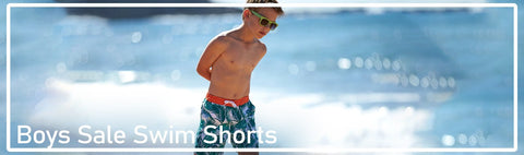 Swim Shorts for boys at special clearance prices.