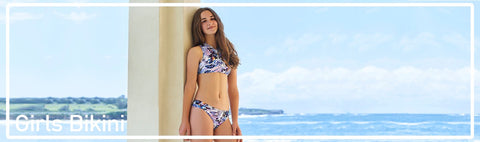 Girls Bikini styles for ages 0 to 14 years at pool, beach and resort