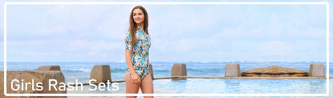Girls Rash Guard and Bottoms for excellent sun protection and sporty wear.