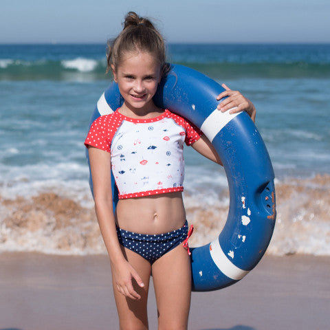 f4bdee4da53ea ... fresher styles from the athleisure fashion trend in cropped tops and  leggings. The Beach Scene swimsuit styles are available for girls 4 to 14 year  old.