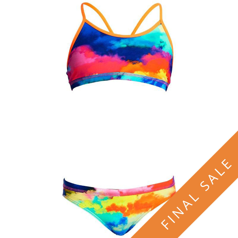 Funkita Girls Racerback Two Piece D-P FS02G- Cumulus