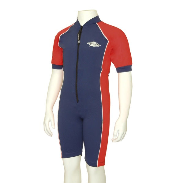Stingray Raysuit Short Sleeves ST3001- Navy/Red