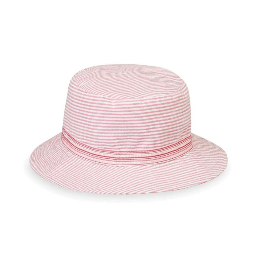 Wallaroo Hats Sawyer Girls' Sun Protective Hat- Pink Stripes