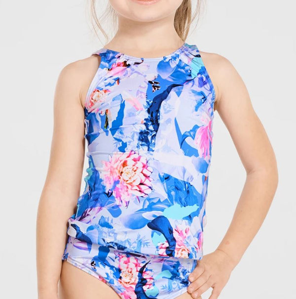 Aqua Blu Jr High Neck Tankini Set AG9024MA- Magnolia