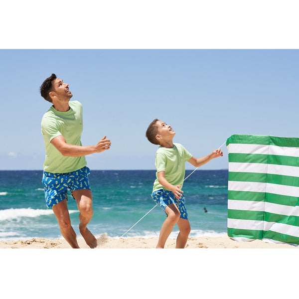 Tom & Teddy Seahorse Men Swim Shorts SHONP- Navy & Pale Green