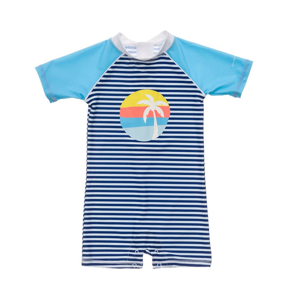 Snapper Rock Sunset Stripe SS Sunsuit B70818S- Blue