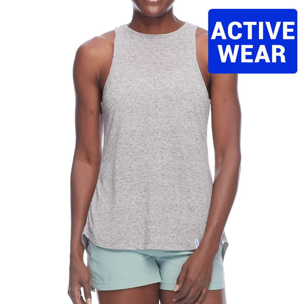 Body Glove Calima High-Neck Relaxed Tank 29-039721- Light Grey HTR