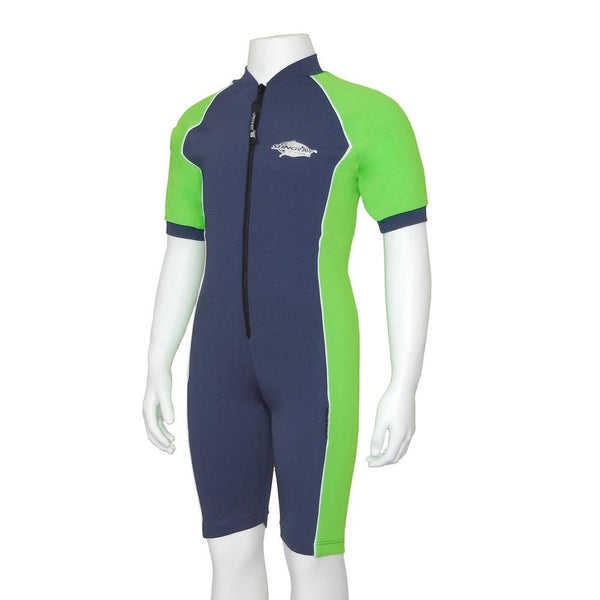 Stingray Raysuit Short Sleeves ST3001- Navy/Lime