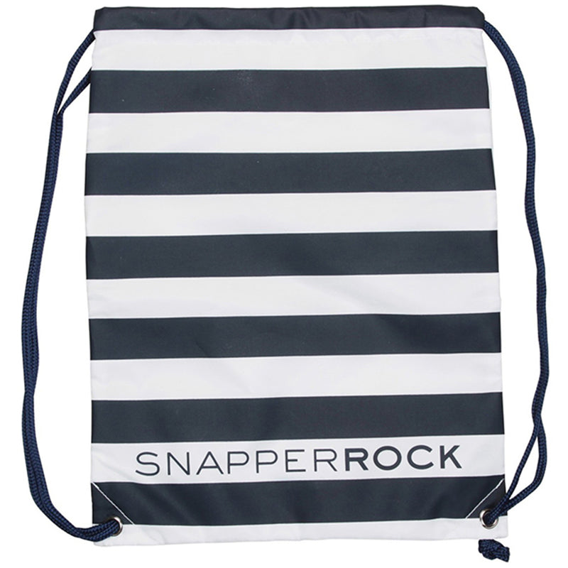 Snapper Rock 1801 Swim Bags Navy/ White Stripe
