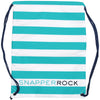 Snapper Rock 1802 Swim Bags Aqua/ White Stripe