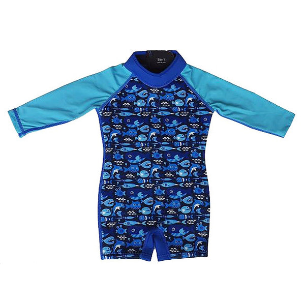 Watercolors Thermal Swimsuit WA110-03- Blue