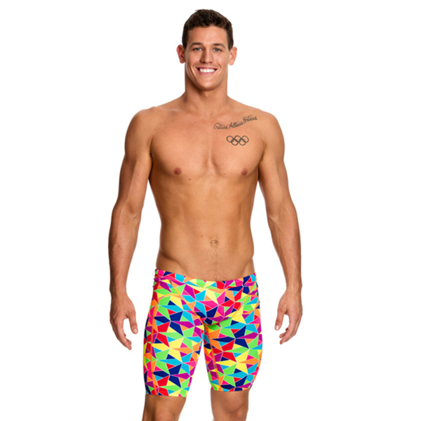 Funky Trunks Mens Training Jammer FT37M- The Joker (Aop)