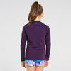 Aqua Blu Pre-Teens Long Sleeve Rash Vest AG9096SS- Stepping Stones Purple