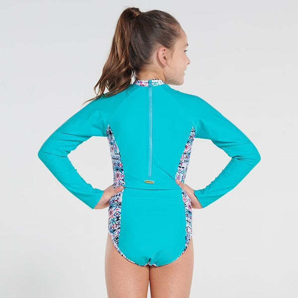 Aqua Blu Pre-Teens Long Sleeve One Piece AG9093IN- Inca