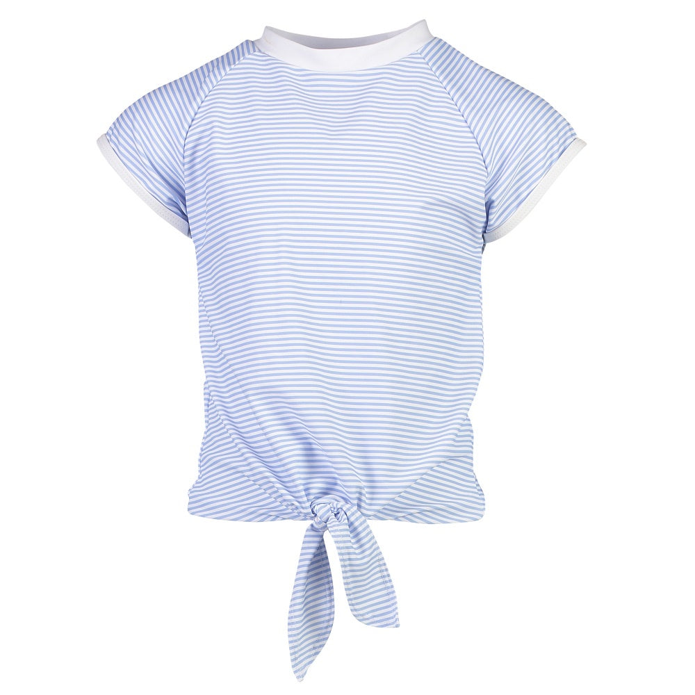 Snapper Rock Knot Front Rash Top Short Sleeve G10111S- Solids