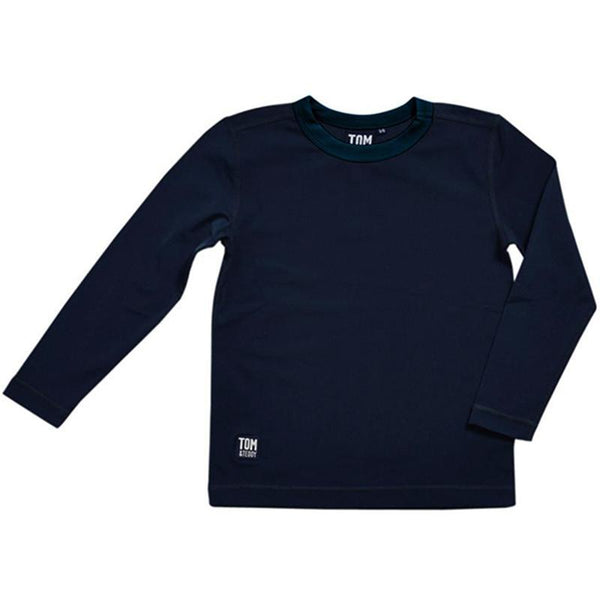 Tom & Teddy Boys Rash Tops Long Sleeves SDBLS-J- Deep Blue