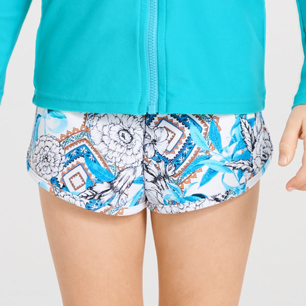Aqua Blu Jr Lycra Boardshorts AG9045WE- Wedgewood
