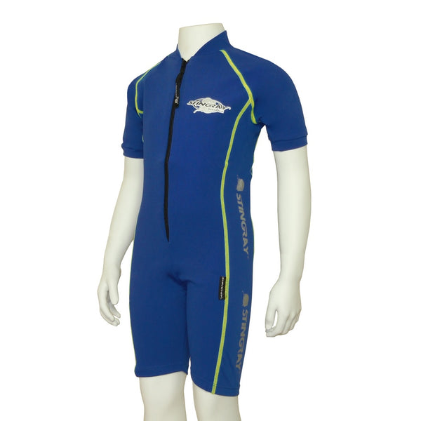 Stingray Raysuit Short Sleeves ST3001S- Blue/Yellow