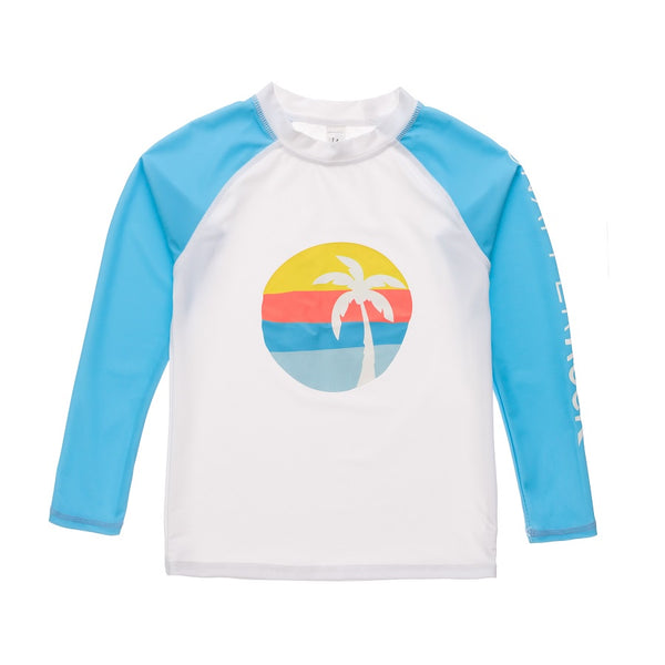 Snapper Rock Sunset Stripe LS Rash Top B20077L- Blue