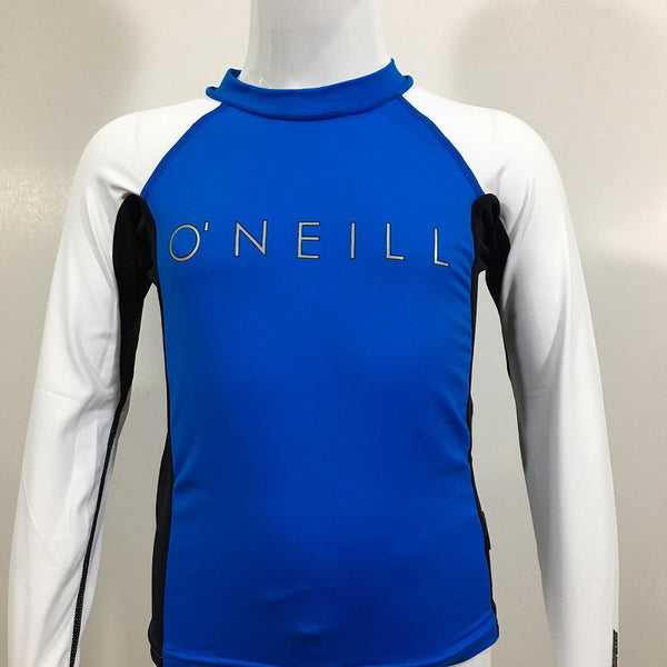 O'Neill Youth Skin Crew Long Sleeves RG417417BBL- Britblue Black White