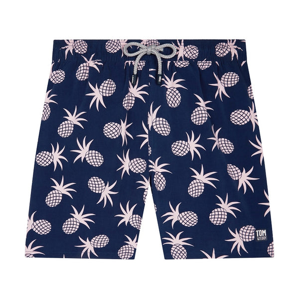 Tom & Teddy Pineapple Men Swim Shorts PINSP- Shell Pink