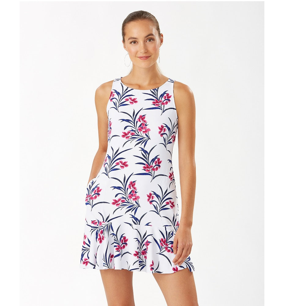 Tommy Bahama High Neck Flounce Spa Dress TSW12719C- Oasis Blossoms