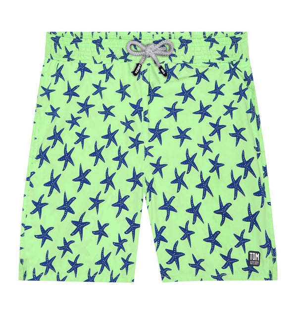 Tom & Teddy Starfish Men Swim Shorts STFGB- Fresh Green & Blue