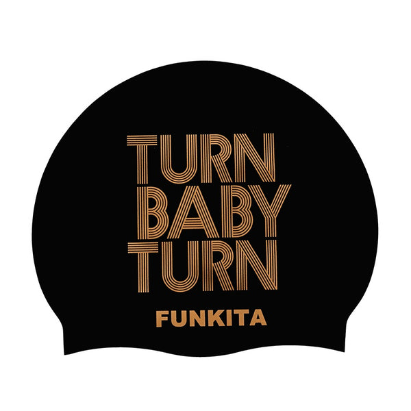 Funky Trunks Swimming Caps FS99- Turn Baby Turn Gold