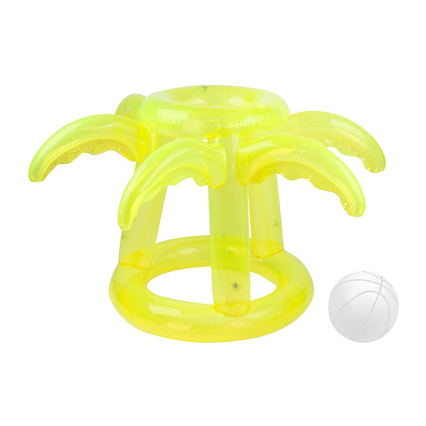 Sunnylife Inflatable Float Away Basketball Set Tropical- Neon Lime S1PBSKTR