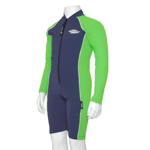 Stingray Raysuit Long Sleeves ST3001L- Navy/Lime