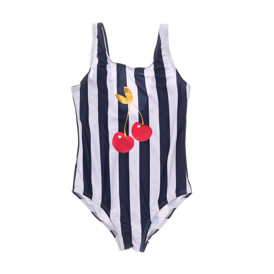 Snapper Rock Ma Cheri Stripe Scoop Swimsuit G13209- Navy