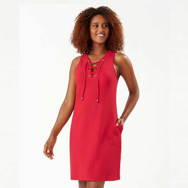 Tommy Bahama Lace Up Spa Dress SS500095- Pique Colada