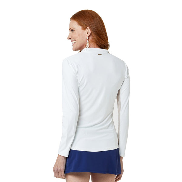 Cabana Life Wicking Performance Zip Top 594-WHE- Essentials