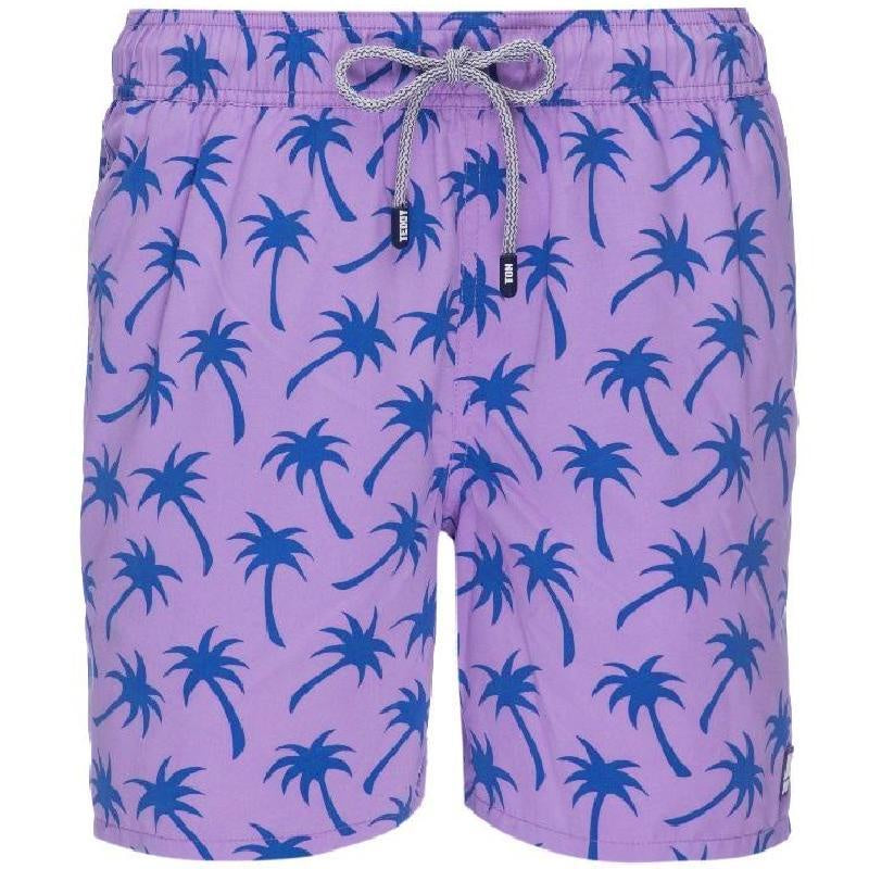 Tom & Teddy Boys Palms Swim Shorts PALLB-J- Lavender/Blue