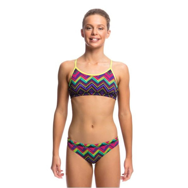 Funkita Girl's Racerback Two Piece FS02G- Knitty Gritty