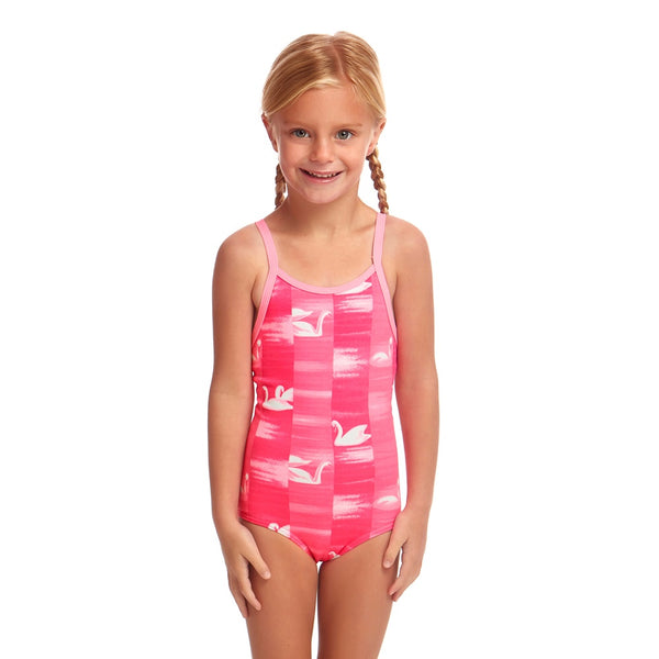 Funkita Toddler Girl One Piece FG01T- Swan Lake