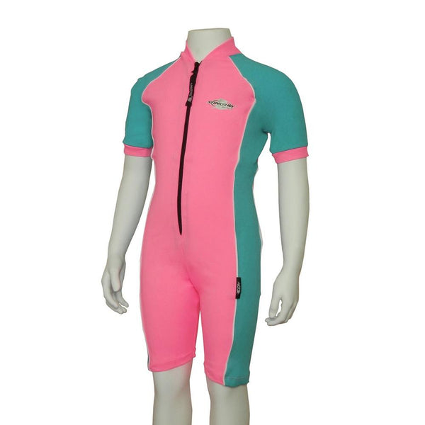Stingray Raysuit Short Sleeves ST3001- Pink/Topaz