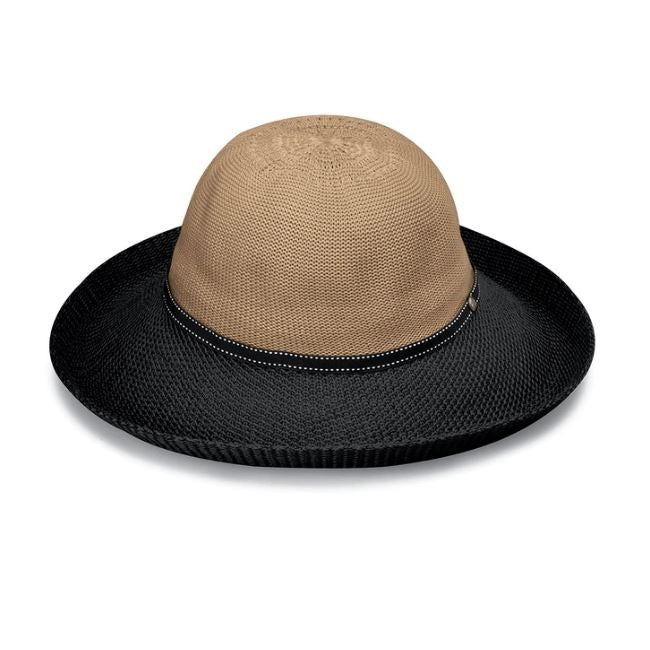 Wallaroo Hats Victoria Two-Toned Women's VICTWO- Camel/ Black