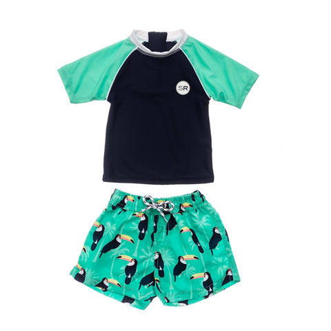 Snapper Rock Toucan Talk Baby SS Set B50007- Blue