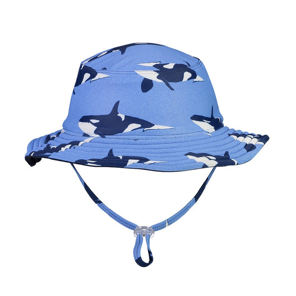 Snapper Rock Orca Ocean Reversible Bucket Hat 671- Blue