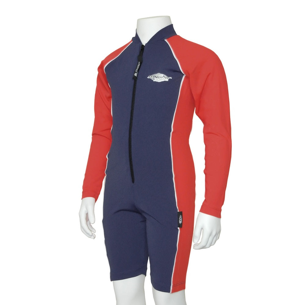 Stingray Raysuit Long Sleeves ST3001L- Navy/Red