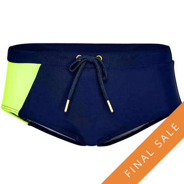 Aqua Blu Jr Retro Trunks AB8046BB-Stepping Shores Navy/Lime